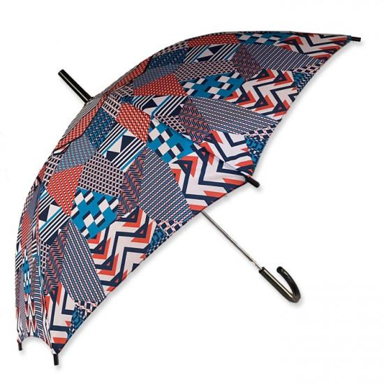 Umbrella  Dark Blue Geometric Motifs BUSQUETS