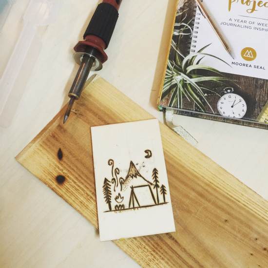 Wood Burning With 7 Brass Tips