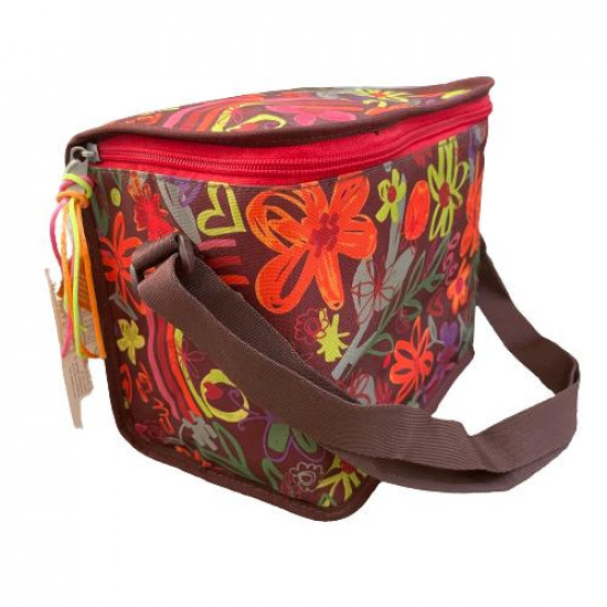 Brown and Orange Busquits Lunch Bag