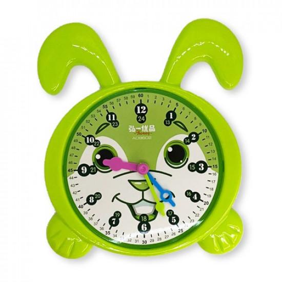 Educational Clock For Time Rabbit Head Big