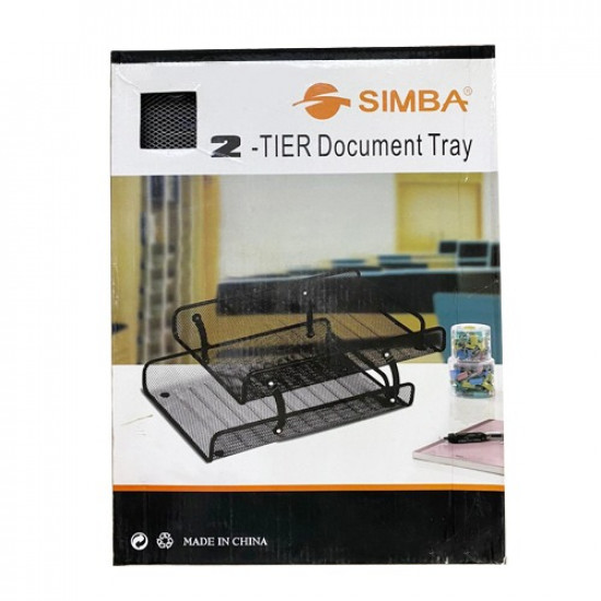 Document Tray SIMBA Silver 2 Tray Movable  Metal