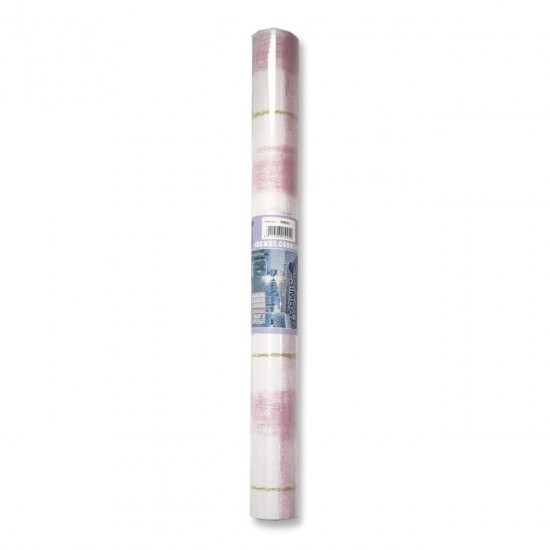 Printed Adhesive Binding White pink and green checkered SIMBA 8 yard