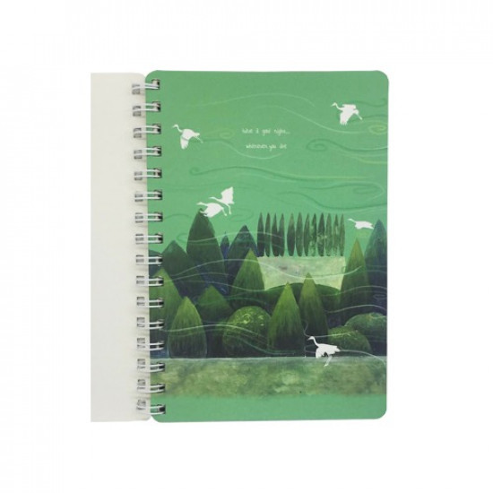 University Notebook Lined A5 Scenery Printed 80 Sheets