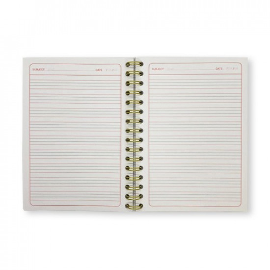 Spiral Notebook English A5 150 Sheets