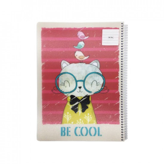 Spiral Notebook KESKIN Lined Tolls A4 100 Sheets Colors