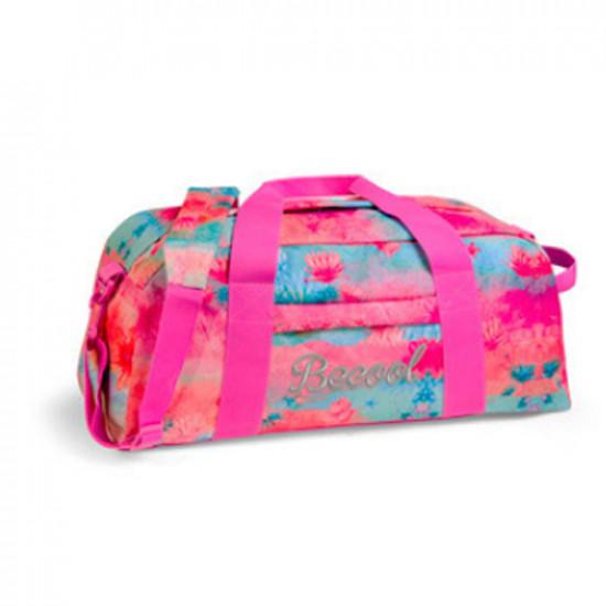 Travel Bag 2 Zipper 20x9 inch Pink Becool