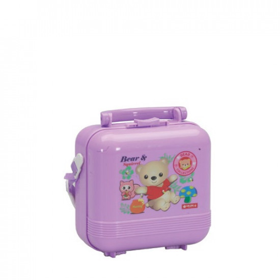 Lunch Box With Water Bottle Lion Star Square Medium