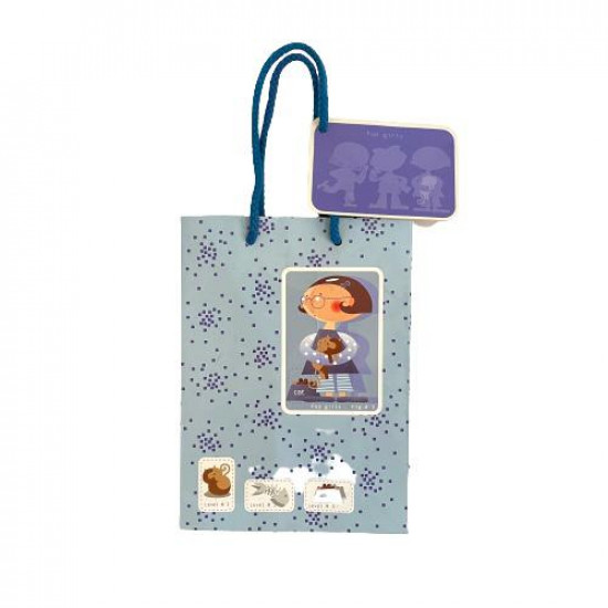 Paper Gift Bag 22x16x8 cm Blue With Card