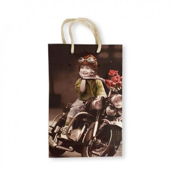 Gift Bag Paper Photo Kids 26x16.5x6.5 cm