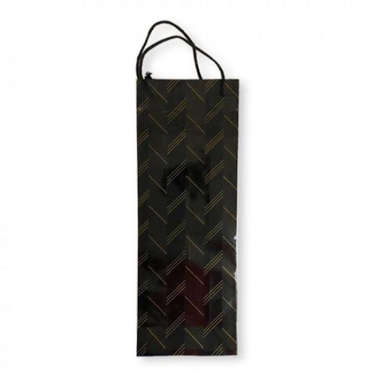 Gift Bag Paper Long Black 37x13.5x8 cm