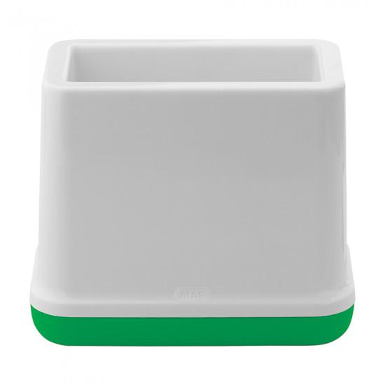 Pen Holder MAS Plastic White and Green