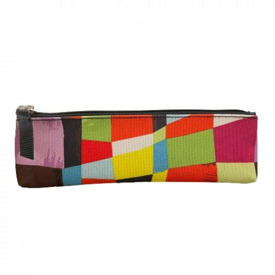 Pencil Case with Zipper Colorful Squares Busquets