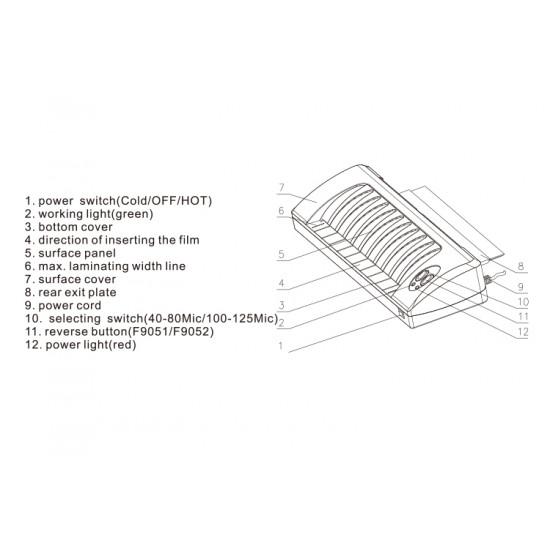 Laminator Size A3 COMIX F9052