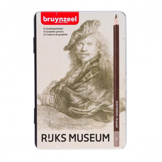 Graphite Pencil Set BruynzeeL 12 Pieces Rijks Museum