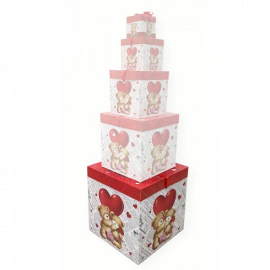 Gift Box Paper 40x40 cm Bear