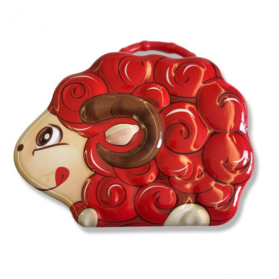 Iron Box with Lock and Handle for Children, Sheep Shape