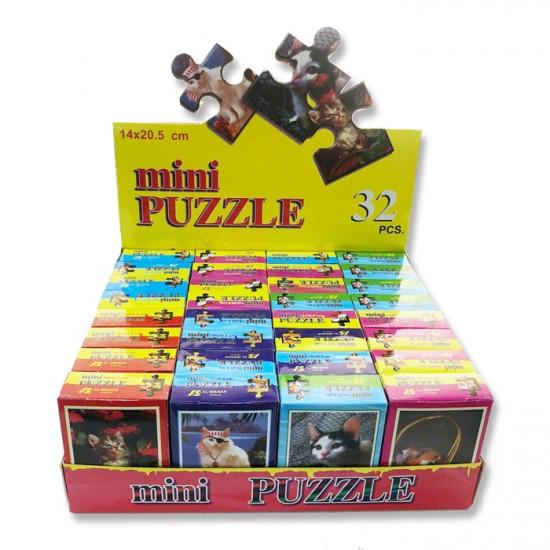 Puzzle Carton 32 Mini Boxes Assorted Cats