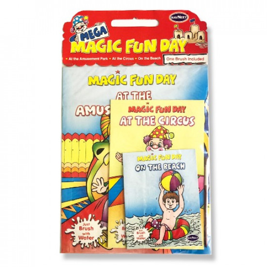 Magic Fun Day Coloring Notebook Set with Brush
