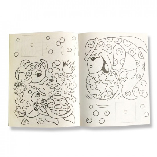 Fish Coloring Book with Stickers