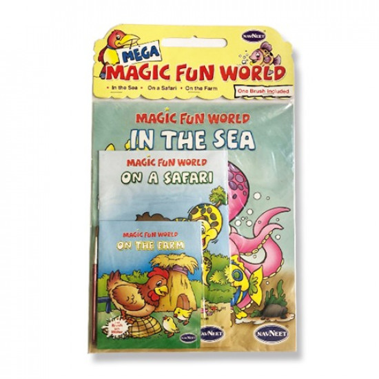 Magic Fun World Coloring Notebook Set with Brush