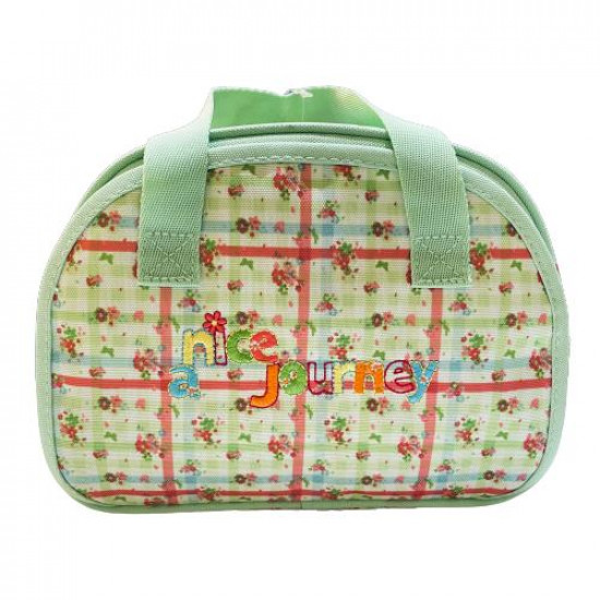 Handbag for Children with Personal Care Tools Light Green