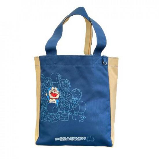 Handbag for Hildren Beige and Navy DORAEMON