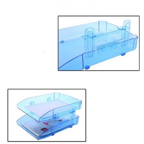 Document Rack Transparent Brown 2 Layers of Plastic METRO