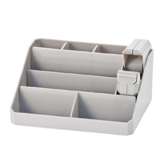 Executive Desk Organiser Grey METRO 8 Compartments