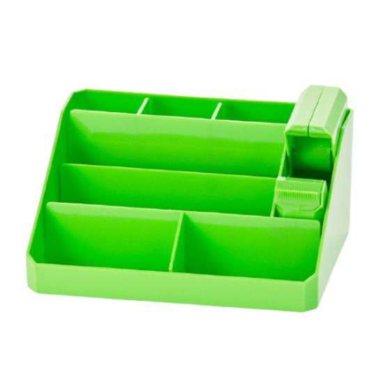 Executive Desk Organiser Green METRO 8 Compartments