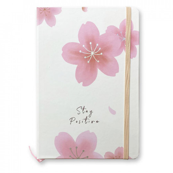 Memo Notebook 14x21 cm with Rope lined Flower Shapes
