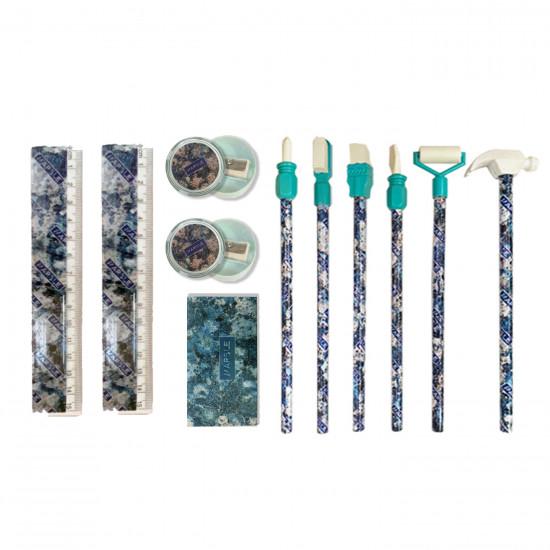 School Set tools Blue