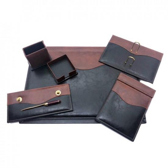 Office Set Black and Brown Leather 7 PCs 911 GULPAS