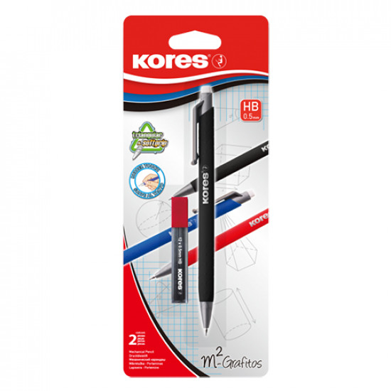 Mechanical Pencil KORES With Eraser 0.5 mm