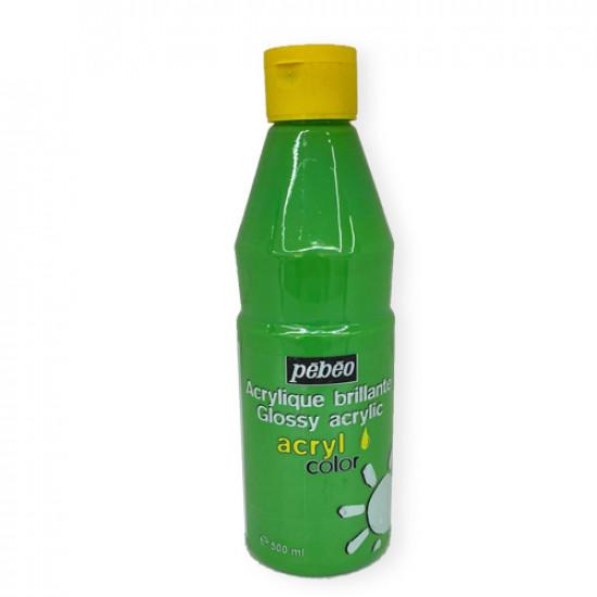 Glossy Acrylic Brillante Colors PEBEO Light Green 500 ml