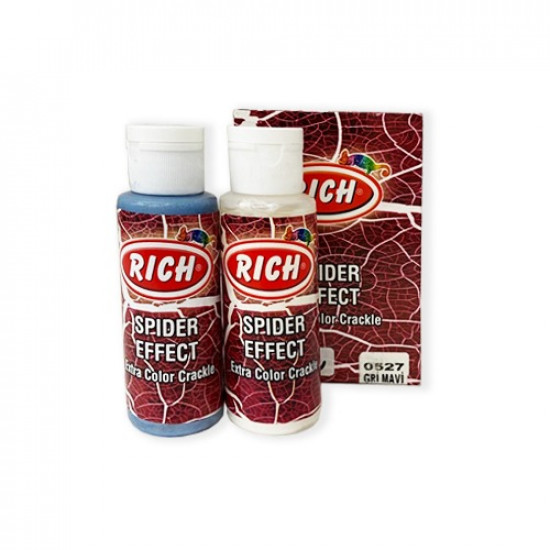 Spider Effect Extra Color Crackle RICH Blue Gray 70cc