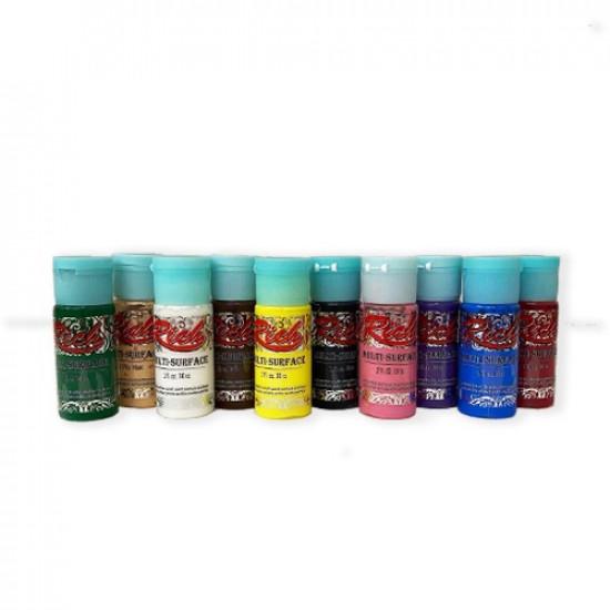 Acrylic Colors Multi ٍٍٍٍٍٍٍSurfaces Set RICH 12 Colors 30 ml