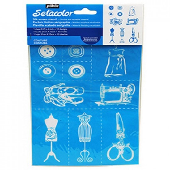 Silk Screen Stencil Sewing tools PEBEO 8.25 X 6 inch